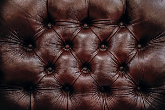 A leather sofa back which has undergone upholstery Glasgow
